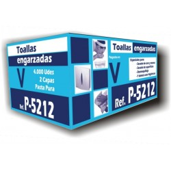 TOALLAS ZIG-ZAG BLANCA 2C
